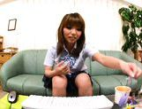 Asian girl is a sweet student masturbating on webcam