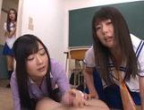 Sugary Asian schoolgirls  cock with hands and mouths