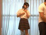 Japanese AV model is a teen having naughty sex picture 11