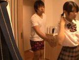 Japanese AV model is a teen having naughty sex