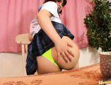 Asian schoolgirl is using her webcam for masturbation in public picture 12