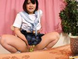 Asian schoolgirl is using her webcam for masturbation in public picture 13