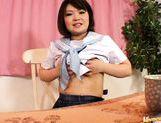 Asian schoolgirl is using her webcam for masturbation in public