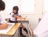 Schoolgirl Yuika Seno Daydreams Of A Threesome In Class picture 12