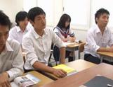 Schoolgirl Yuika Seno Daydreams Of A Threesome In Class