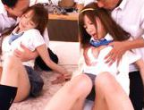 Wild class school gangbang picture 11