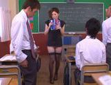No Panties And Stockings Makes Teacher Yuna Shiina Fuckable picture 10