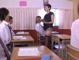 No Panties And Stockings Makes Teacher Yuna Shiina Fuckable picture 7