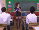 No Panties And Stockings Makes Teacher Yuna Shiina Fuckable picture 8