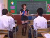 No Panties And Stockings Makes Teacher Yuna Shiina Fuckable picture 9