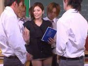 No Panties And Stockings Makes Teacher Yuna Shiina Fuckable