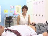 Sexy Yui Ooba pleases two male in awesome threesome