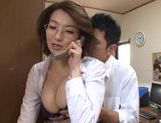 Hot mature Mio Takahashi gets huge boobs licked picture 12