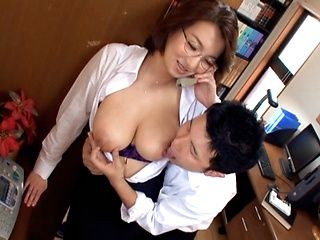 Mio Takahashi hot mature Japanese model gets tits licked