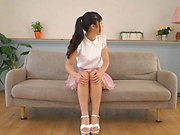 Beautiful Nanase Miku seductively teases before the cameras