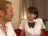 Schoolgirl Aoyama Mirai is fucked hard missionary picture 13