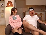 Amateur schoolgirl fucked hard in Japanese home show picture 10