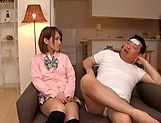 Amateur schoolgirl fucked hard in Japanese home show picture 11