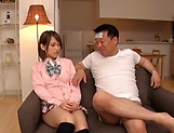Amateur schoolgirl fucked hard in Japanese home show picture 14