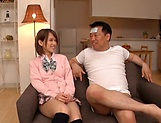 Amateur schoolgirl fucked hard in Japanese home show picture 15