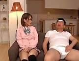 Amateur schoolgirl fucked hard in Japanese home show picture 3