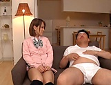 Amateur schoolgirl fucked hard in Japanese home show picture 5