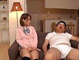 Amateur schoolgirl fucked hard in Japanese home show picture 6