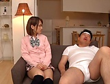 Amateur schoolgirl fucked hard in Japanese home show picture 7