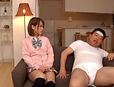 Amateur schoolgirl fucked hard in Japanese home show picture 9