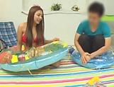 Naughty Mei Matsumoto in bikini gets her big tits fucked picture 15