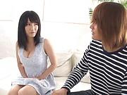 Sakai Satomi ,devours her dude with an erotic kissing