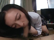 Sakuno Kanna gets her wet creamed pussy filled with cum