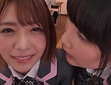 Japanese schoolgirls are being naughty picture 11