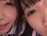 Japanese schoolgirls are being naughty picture 14