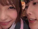 Japanese schoolgirls are being naughty picture 15