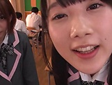 Japanese schoolgirls are being naughty picture 4