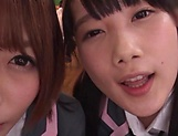 Japanese schoolgirls are being naughty picture 7