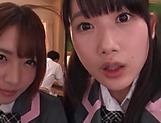 Japanese schoolgirls are being naughty picture 8