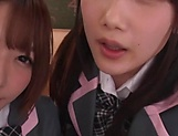 Japanese schoolgirls are being naughty picture 9
