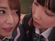Japanese schoolgirls are being naughty