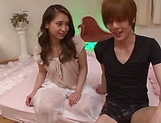 Hot Asian teen delivers a steamy blowjob indoors
