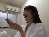 Kawakami Nanami performs a cute blowjob picture 14