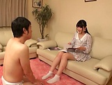 Spicy legal age chick Aya Miyazaki preps up for a solo play picture 11