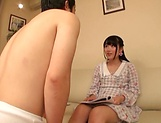 Spicy legal age chick Aya Miyazaki preps up for a solo play picture 12