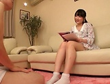 Spicy legal age chick Aya Miyazaki preps up for a solo play picture 14