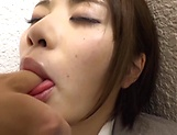 Amazing Japanese girl ends porn play with cum on ass