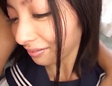 Spicy teen hottie Sakuno Kanna in hardcore pounding session picture 3
