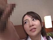 Spicy schoolgirl in an erotic teasing session