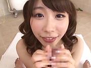 Ookura Miyu pleasures a huge veiny shaft