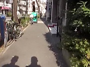 Alluring Tokyo babe gets her hairy pusys fucked by a stranger